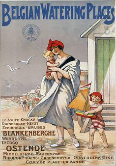 Vintage Belgian Belgium Travel Poster