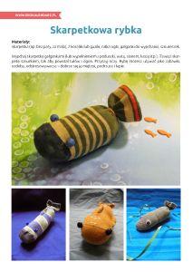 Światowy Dzień Oceanów – pakiet edukacyjny: Skarpetkowa rybka