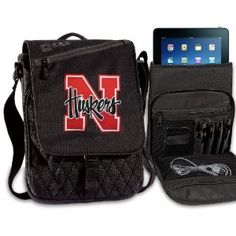University of Nebraska IPAD BAGS TABLET CASES Cornhuskers College Logo Holders Tablets, E-readers Netbooks Ipads, Ipad 2, Kindle, Nook (Electronics)