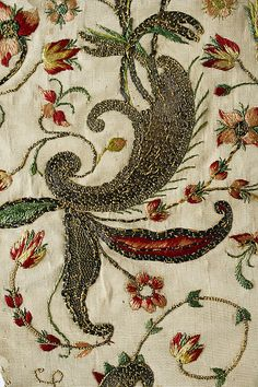 Stomacher  Date: 1700–1750 Culture: French (probably) Medium: silk, gold