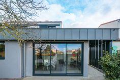 Extension Moderne Extension, Facade, Garage Doors, Ferdinand, Outdoor Decor, Design, Home Decor, Gray, Nantes