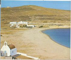 1970ties Myconos Kalo Livadi beach. Mykonos Island, Mykonos Greece, Greece History, Myconos, Old Time Photos, Top Destinations, Old City, Athens, Vintage Photos