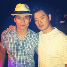 The Masaoka Brothers from @allegiancebway out on the town #PaoloMontalban #SundayFunday - @karljosefco #allegiancebway