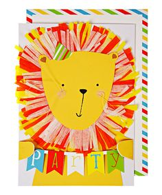 Party Lion Birthday Card