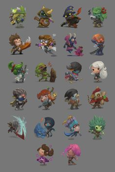 Starbound Chibis, Grace Liu on ArtStation at https://www.artstation.com/artwork/XGeQy