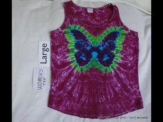 In this video I show you how to tie dye a butterfly design onto a tee shirt. My channel is stocked full of How-To Tie-Dye videos, Tips and Tricks, tie-dye re. Tie Dye Shoes, How To Dye Shoes, How To Tie Dye, Diy Tie Dye Shirts, T Shirts, Diy Shirt, Diy Tie Dye Designs, Diy Tie Dye Techniques, Tie Dye Tutorial