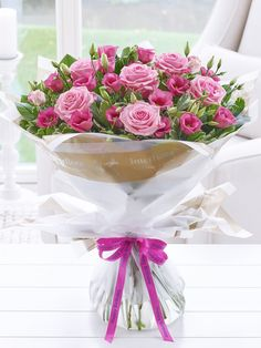 Send flowers with Flowers. Flower Delivery available in Dublin and nationwide. Happy Birthday Flower Bouquet, Birthday Flowers For Her, Happy Birthday Flowers Images, Happy Birthday Mother, Happy Birthday Cards, Birthday Messages, Flowers For You, Order Flowers, Petals Florist