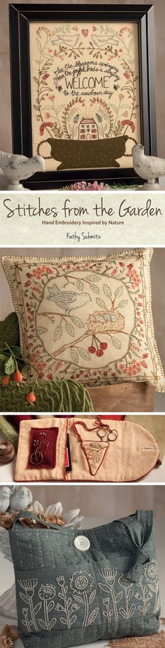 Spectacular embroidery you can do too - let best-selling author Kathy Schmitz teach you! What we love about her new book, Stitches from the Garden, is that perfection isn't the goal. Kathy's only goal for you is the process of peacefully stitching. Sounds dreamy to us <3
