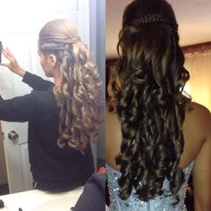 Homecoming hair or prom hair