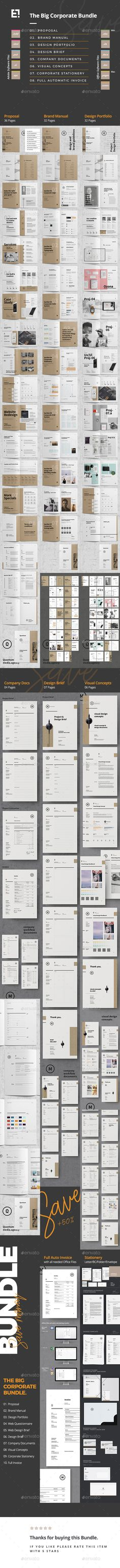 Business Plan u2014 InDesign INDD elegant design
