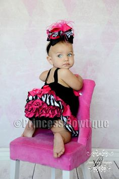 Love this site..I can see myself becoming one broke momma!     Hot Pink Zebra Swing Back Top and Matching Bloomers