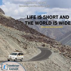 Travel Quote : LIFE IS SHORT AND THE WORLD IS WIDE. #landscapeofladakh #ladakh #ladakhtour #ladakhquote #leh #travelquote Leh Ladakh, Brother Quotes, Quote Life, Life Is Short, Bikers, Travel Quotes, Trekking, Travelling, Tours