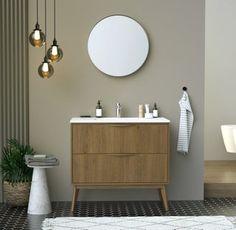 Style Retro, Vanity, Bathroom, Leroy Merlin, France, Master Bathroom Vanity, Attic, Small Bathroom Storage, Diy Ideas For Home