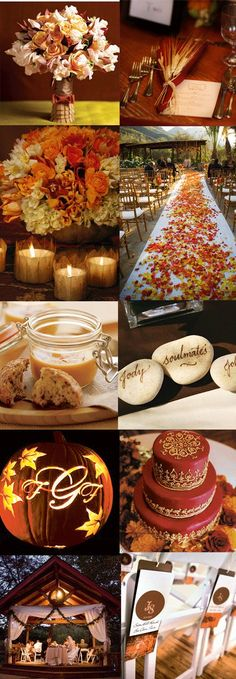 Fall wedding board, the colors are amazing - Click image to find more hot Pinterest pins