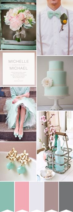 Mint and pink color inspiration
