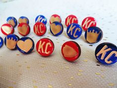 Royals Earrings Chiefs Earrings Kansas City by craftybomb on Etsy