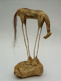 Sculpture by Antoine Josse Sculpture Metal, Paper Mache Sculpture, Horse Sculpture, Abstract Sculpture, Sculptures Sur Fil, Animal Sculptures, Wire Sculptures, Ceramic Sculptures, Ceramic Animals