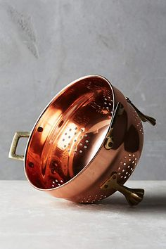 Small, Copper-Plated Colander Home Goods Decor, Home Decor, Humble Abode, Hope Chest, Home Accessories, Plating, Copper, Metal, Anthropologie