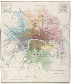 DAWSON, Robert Kearsley. The Metropolitan Boroughs as defined by the Reform Bill. 1832.  http://sotherans.blogspot.co.uk/