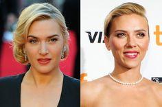 Kate Winslet et Scarlett Johansson sans maquillage