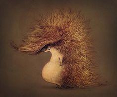 · illustrations and characters · by Anna Baratashvili, via Behance