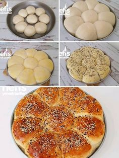 10 Minuets : How to make Flower Bread Recipe? people in the book of flowers Bread . Turkish Recipes, Mexican Food Recipes, Italian Recipes, Flower Bread Recipe, Korean Fried Chicken, Food Garnishes, Different Recipes, Food Truck, Soul Food
