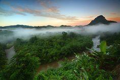 Rainforest sunset in Borneo