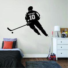 ALL HOCKEY STICKERS Hockey Girls, Hockey Mom, Funny Hockey, Hockey Goalie, Hockey Players, Ice Hockey, Rangers Hockey, Hockey Bedroom, Personalized Wall Decals