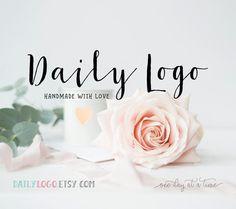 Daily Logo Design watercolor floral logo typographic logo wordpress header design blog logo