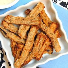 Baked Eggplant Fries with Lemon Dipping Sauce - 10 Healthy Eggplant Recipes from Top Food Bloggers - Shape Magazine