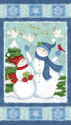 Hiver Joy maisons d/'oiseaux Tissu par studio E 100/% Quilting Cotton Noël Festif