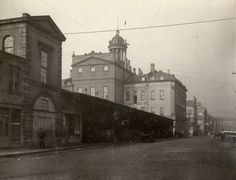 St. Lawrence Market. N. Market (1850-1904), Front St. E., n. side, betw. Market & Jarvis Sts., showing e. side, before alterations of 1898, Toronto, Ontario