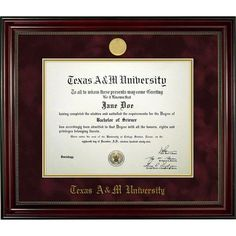 Campus Images Cal State Long Beach 11w x 8.5h Executive Diploma Frame