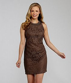 Maggy London BeadTrim Lace Sheath Dress #Dillards