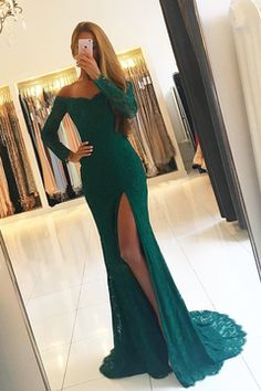 Emerald Green Prom Dress,lace Evening Gowns,long Sleeves Prom Dresses,off The Shoulder Evening Gowns Cheap Prom Dresses Uk, Prom Dresses Long With Sleeves, Party Dresses, Green Prom Dresses, Green Long Sleeve Dress, Pageant Dresses, Wedding Dresses, Evening Dresses Uk, Mermaid Evening Dresses