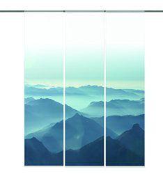 Wundervoll Schiebegardine halbtransparent Flächenvorhang Wildseide Optik Uni  CU51
