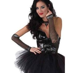 Adult 80u0027s Studded Fishnet Sleeves Punk Rock Costume Accessory  sc 1 st  Pinterest & 34 best 80s rock / glam rock costume images on Pinterest | Rock ...