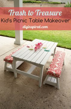 Trash to Treasure Picnic Table Makeover