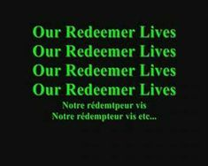 My redeemer lives hillsong