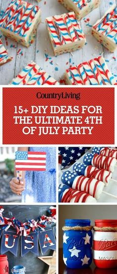 16 Best of July Party Ideas - Games & DIY Decor for a Fourth of July Cookout 4th Of July Games, Fourth Of July Food, 4th Of July Celebration, 4th Of July Party, July 4th, The Menu, Retirement Party Decorations, 4th Of July Decorations, Gold Decorations