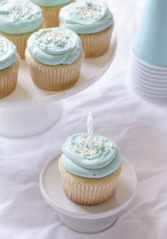Simple Vanilla Cupcakes and My First Blogiversary!