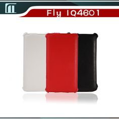 Luxury Lichee Pattern flip PU Leather Case for Fly IQ4601 ERA Style 2 leather cover color white, black,red Russia Free Shipping