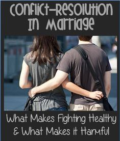 Awesome explanation of why fighting in marriage isn't necessarily bad, and warnings signs to look for to make your marriage last!