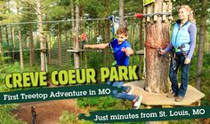 New treetop adventure course opening in Creve Coeur Park in Saint Louis County.