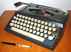Tippa S Cursive Font Typewriter.  I bought one of these too this weekend for my Zine: Frisky Fish