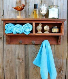 Rustic Home Decor Cubby Shelf Railroad Spike por honeystreasures