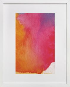 DIY Inspiration | Watercolor Ombre Painting, love the white corner