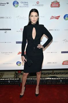 Pin for Later: Bella Hadid Wore the Sexiest LBD to Celebrate Her Birthday  At the Global Lyme Alliance Gala.