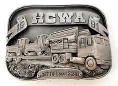Truck Driver Belt Buckle HCWA  Siskiyou by honeyblossomstudio