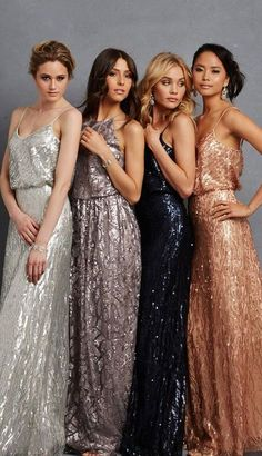 Gorgeous shimmery gowns by Donna Morgan One for the glamorous Bridesmaid or even an laternative wedding dress! /nordstrom/ #nordstrom http://rstyle.me/n/bvu78rn2bn